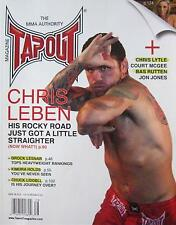 2010 TAPOUT MAGAZINE CHRIS LEBEN KIMURA CHUCK LIDDELL MIXED MARTIAL ARTS KARATE