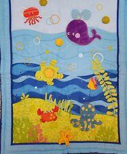 Fisher Price Ocean Wonders 2 Piece Crib Bedding Set Deep Blue Sea Quilt + Sheet