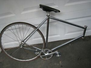 Vintage Track Bike With Parts  as PICTURED TREK , SCHWINN ? Fixed Gear 60cm SEE