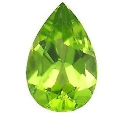 NATURAL RAVISHING GREEN PERIDOT LOOSE GEMSTONE (6 x 4.1 mm) PEAR SHAPE