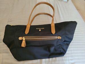Michael Kors Navy Blue Top Zip Tote Shoulder Bag