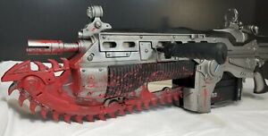 "Gears of War 2 Full Size 36"" Bloody Chainsaw Lancer Replica by NECA Sound Rumble"