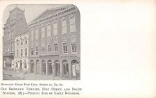 c.1905 Old Brooklyn Theater Post Office & Police Station Brooklyn NY post card