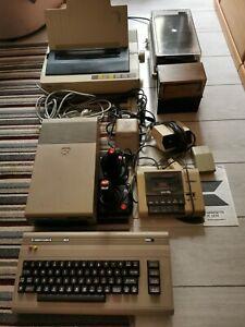 Commodore C64 Brotkasten Komplettsystem mit Drucker, Floppy, Datasette + Zubehör