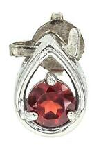 NATURAL RED FIRE GARNET ROUND CUT SOLID 925 STERLING SILVER PENDANT