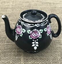 Shelley Art Nouveux 8103 Teapot Black Roses Stunning Beautiful Rare