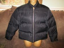 J. CREW Jacket Puffer Down Coat Women's Down Winter Coat Black M Medium  NWOT