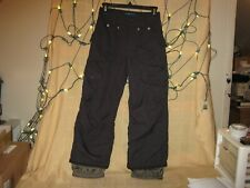 ORAGE Prime 10 Black Insulated Snowboard Ski Snow Pants Youth Small 8 Adjustable