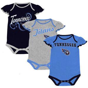 Tennessee Titans NFL Newborn Girls Little Lady 3-Pack Creeper Set Size 0-3 Mo
