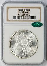 1881-S Morgan Dollar $1 MS 66 NGC CAC Approved