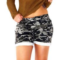 Markenlose Damen-Shorts aus Baumwollmischung