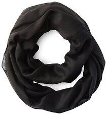 Calvin Klein Ladies Crepe Infinity Loop Scarf Black One Size BNWT