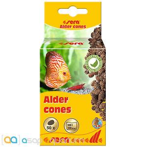 Sera Alder Cones 50 pieces Naturally Lowers pH Blackwater Tanin Freshwater Tanks