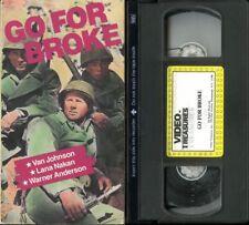 rare Video Treasures release Go For Broke B&W 1951 VHS Van Johnson World War II
