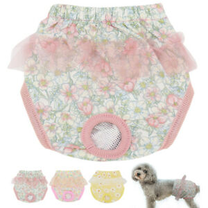 Dog Pants for Bitchs In Season Female Physiological Nappy Sanitary Pink Yellow