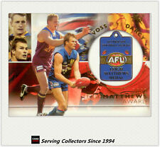 2003 Select AFL XL Series 300 Game Case Card Cc8 Bernie Quilan (fitzroy)