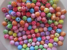 50 Perlen 10mm  Perle mix mit Loch Tischdeko rund Dekoperlen Wachsperlen
