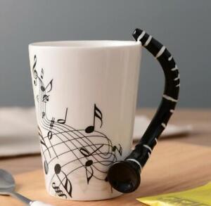 Music Themed Mug with Clarinet Handle