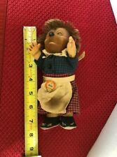 """Steiff Vintage Micki The Hedgehog  7"""" German With Tag Mohair Collectible"""
