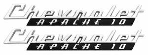 1960 Chevrolet Apache 10 Chevy Pickup Truck Hood Side Emblem *Brand New* C10