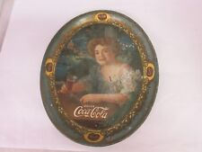 AUTHENTIC COKE COCA COLA 1909 ADVERTISING SERVING TIN TRAY  688-S