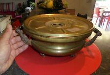 Ancien Chauffe Plat de Table Cuivre à Réchaud Maison de Maître 1900 Girodon Lyon