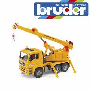 Bruder MAN TGA Crane Construction Truck Kids Childrens Toy Model Scale 1:16