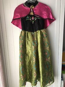 Disney Frozen Anna Dress & Cape Age 5-6 Years
