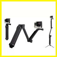 3-Way Arm Tripod Monopod Selfie Stick Phone GoPro 8 Hero 7 6 5 4 Action Camera