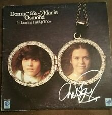 Marie Osmond Signed Autographed 'I'm Leaving It All Up To You' Album - w/COA