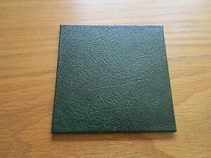 Recycled Leather Coasters Pack of 4 Size 10 x 10cm Various colours. Made in UK