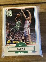 (70) Dee Brown 1990 Fleer Update Basketball Boston Celtics Rookie Card Lot #U6