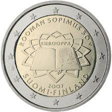 Pièce commémorative de Finlande 2007 ( Traité de Rome )
