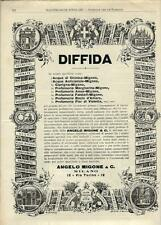 Stampa antica pubblicità ANGELO MIGONE & C. Milano 1898 Old antique print