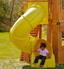 Yellow Tunnel/ Tube Slide for 1.5m Platform, playground, Children,climbing frame