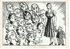 More details for 'feeling small' - original artwork, 1940s/50s - ink on card - 6x4 ins - signed