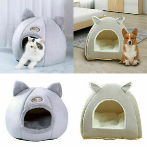 Pet Cat Dog Cozy Cave Bed Sleeping Cushion Nest Puppy Warm Kennel Cat House Beds