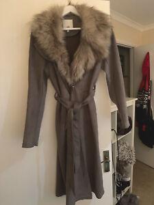 river island long cardigan Fur Grey
