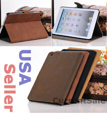 Vintage Leather Book Style Case Slim Magnetic Cover iPad Mini 1 2 3 with Retina
