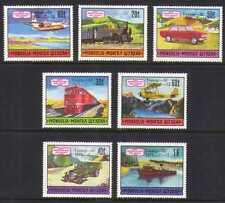 Mongolia 1975 trenes/barco/coche/aviones 7v optd (b6741)