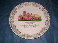 1828-1978 METHODIST CHURCH MECHANICSVILLE NY PLATE