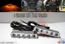 Motorcycle TURN Signals Flashers Front Rear Indicators Chrome 5 LED Street Bike