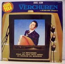 2 x 33T André VERCHUREN LP SUPER STARS TELE 20000000ém Disque Musette AZ 146/147