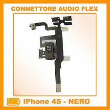 IPHONE 4S CAVO FLAT FLEX CONNETTORE JACK AUDIO TASTO VOLUME MUTE NERO