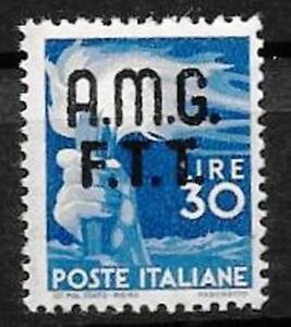 AMG.FTT 1947 DEMOCRATICA 30 LIRE NUOVO NH**