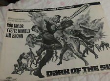Vintage DARK OF THE SUN EXHIBITOR'S Campaign Book  '68 ARTWORK
