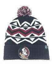 watch 1c15b 8f545 Florida State Seminoles TOW Knit Hat Pom Beanie Cuff Stocking Cap NCAA Black  Red