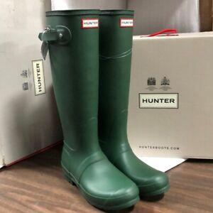 NIB - Hunter Tall Green Original Woman's Rain boots Authentic New Pick Size