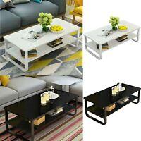 Modern Wood Coffee Table Side/ End Table Living Room Tea Desk w/ Storage Shelf