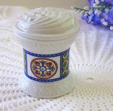 Vintage Elizabeth Arden Byzantium Candle Jar or Lidded Toothpick Holder - Japan